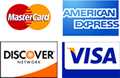 Accepting American Express, Discover, MasterCard and VISA